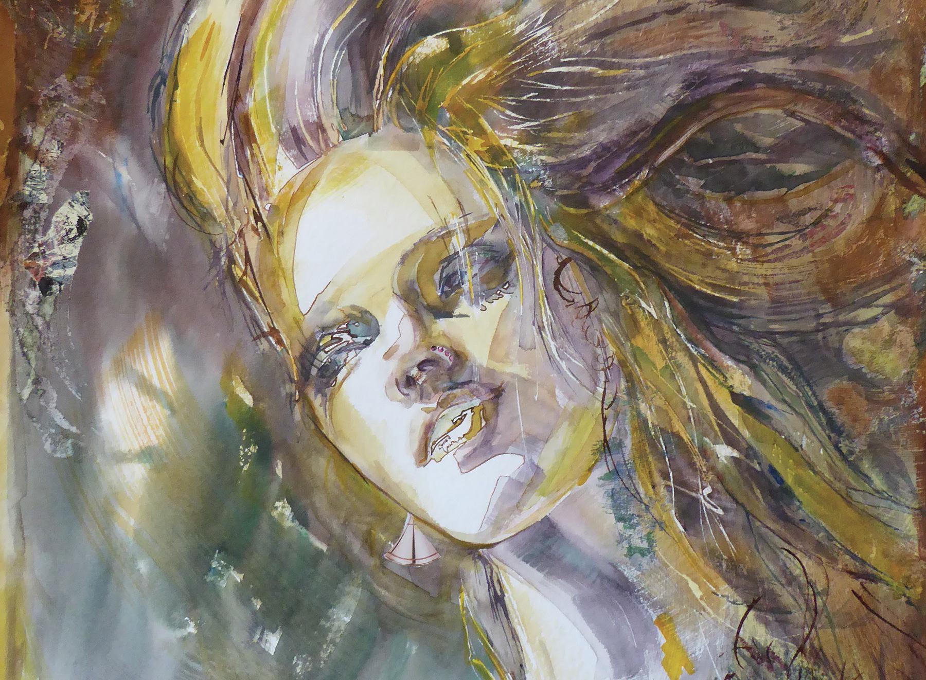 Jo lle pulcini artiste peintre de c te d 39 or huile au couteau aquarelle galerie de - Cote d un artiste peintre ...